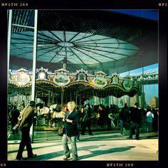 Brooklyn Bridge Park carousel!!!  Let's ride it!