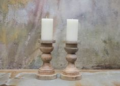 Our Kibibi chunky wooden candlestick looks beautiful with church candles. Each candlestick holder is hand turned from sustainable mango wood. Wooden Candle Sticks, Wall Candle Holders, Mango Wood, Nkuku, Candlesticks, Wooden Candlestick Holders, Wood Candle Sticks, Wooden Candles, Candles