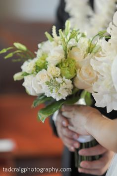The refreshing wedding bouquet! Photo by Tad Craig Photography