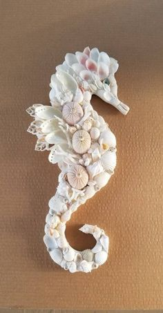 Seashell SeahorseShell Seahorse - Seahorse Shell Art - Beach Decor - Seashell Seahorse Wall Hanging - Coastal Decor - Nautical Decor - The Effective Pictures We Offer You About crafts ideas A quality picture can tell you many things. Seahorse Art, Seashell Art, Seashell Crafts, Seahorses, Seahorse Crafts, Sea Crafts, Diy And Crafts, Arts And Crafts, Seashell Projects