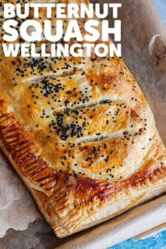 This vegetarian main is a real showstopper! It's easy to pull together but looks impressive. This wellington is packed with butternut squash, goat's cheese and herbs. #thecookreport #squashwellington #vegetarian Picnic Recipes, Picnic Foods, Lunch Recipes, Vegan Recipes, Savoury Pastry Recipe, Pastry Recipes, Cheese Recipes, Dinner Recipes Easy Quick, Winter Dinner Recipes