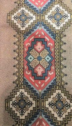 Cross Stitch Embroidery, Cross Stitch Patterns, Handicraft, Bohemian Rug, Alphabet, Textiles, India, Rugs, Knitting