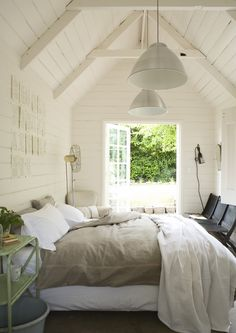 Modern Farmhouse Style Bedroom Or Sleeping Cottage. Inspiring Walls:  Horizontal Paneling U0026 Sophisticated Shiplap Our Next Bedroom Will Be All  Whites And ...