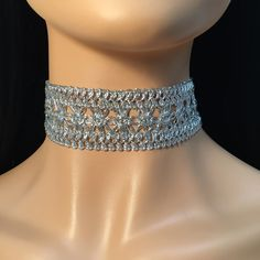 Goddess Weaved Metallic Choker in Silver  Adjustable with lobster clasp & chain....   https://nemb.ly/p/41bmJp6n_ Happily published via Nembol