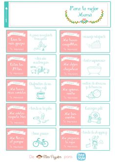 diy día de la madre imprimible gratis freebies free printable mother day's Birthday Presents For Grandma, Mother's Day Diy, Gifts For Wife, Wife Gift Ideas, I School, Diy And Crafts, Bullet Journal, Clip Art, Printables