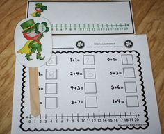 Leaping Leprechauns! (Freebie) Use a free number line to practice addition, numeral recognition, greater than/less than or whatever you need!