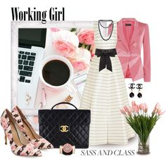 Sass & Class Working Girl by leanne-mcclean on Polyvore featuring polyvore, fashion, style, ESCADA, Emilia Wickstead, Chanel and Lanvin