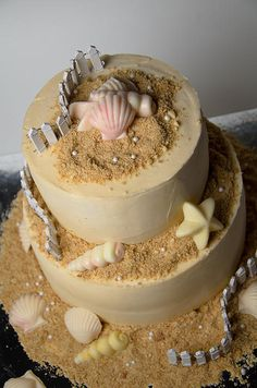 Sandy Beach - Shelly's Cakes - by Paul Sisco