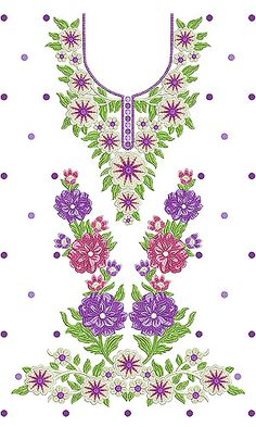 Single Head Embroidery Design