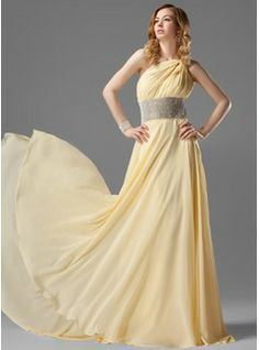 Special Occasion Dresses - $146.99 - A-Line/Princess One-Shoulder Sweep Train Chiffon Prom Dress With Ruffle Beading  http://www.dressfirst.com/A-Line-Princess-One-Shoulder-Sweep-Train-Chiffon-Prom-Dress-With-Ruffle-Beading-018021120-g21120