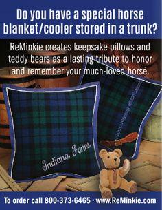 ReMinkie Keepsake Pillows and Teddy Bears. www.ReMinkie.com