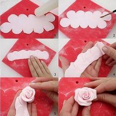 1X3D Cake Rose Petal Flower Cutter Fondant Icing Decoration Mould Tool