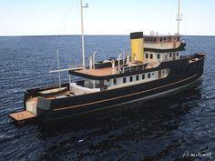 Tug Boats, Motor Boats, Yacht Design, Chelsea Smith, Trawler Yacht, Gentleman, Pt Boat, Steam Boats, Motor Yachts