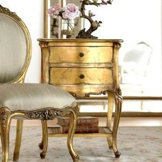 Gilded distressed furniture