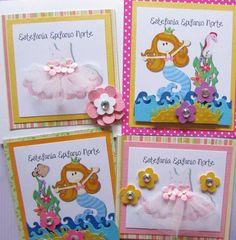 Tarjetas de presentación para regalos Facebook Crafts by Iris  @craftsbyiris 7th Birthday, Invitation Cards, Note Cards, I Card, Baby Gifts, Little Girls, Envelope, Paper, Frame