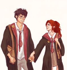Oh my god, James Potter is holding my hand, Lily thought. Oh my god, Lily Evans isn't punching me for holding her hand, James thought. -Give me Love, chapter 7
