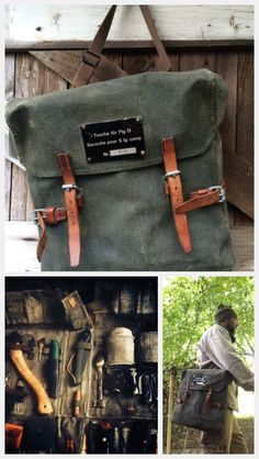 Vintage Swiss Army Tool Bag - reconditioned canvas & leather