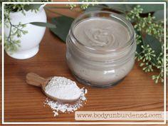 body unburdened diy homemade natural deodorant bentonite clay