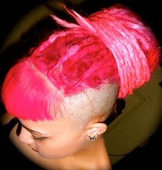 pink mohawk dreads....so much love.
