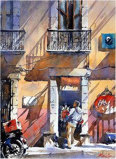 Delivery - San Miguel, Mexico. Thomas W Schaller - Watercolor. 24x18 Inches 30 March 2016