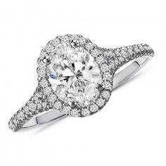 1.25 Carat Oval Cut Diamond Engagement Ring