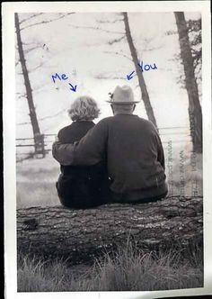 i love cute old couples. To age with the one you love. Cute Old Couples, Beaux Couples, Older Couples, Couples In Love, Grow Old With Me, Growing Old Together, Romance, Old Love, Old Couple In Love