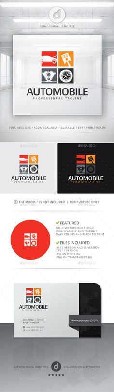 informations for this logo logo logo of stylized car elements in 4 colorful squares