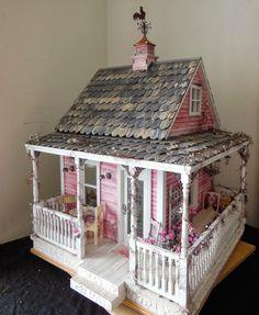 Casa de Palito de Picolé -   /   Popsicle Stick House -