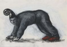 Drawing (Figure on all fours with red shoes) Francisco Goya, Human Head, Red Shoes, Batman, Superhero, Drawings, Painting, Fictional Characters, Figurative
