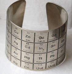 Periodic Table Silver Bracelet ... Really just want it for testing references :-)