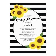 475 best sunflower baby shower invitations images on pinterest modern fall sunflower baby shower invitations filmwisefo