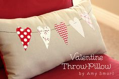 cute heart pillow