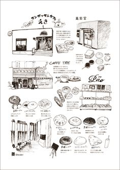 Food Illustrations, Illustration Art, Fountain Pen Drawing, Drawing Journal, Animation, Food Art, Graphic Design, Pixiv, Drawings