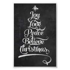 Chalkboard Christmas Joy Tree Print - nov 21 - 2x