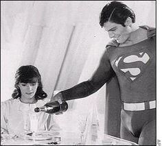 Christopher Reeve and Margot Kidder as Lois Lane