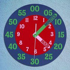 creative clock for teaching time
