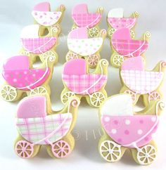 Adorable baby buggy cookies from Cookie Crazie