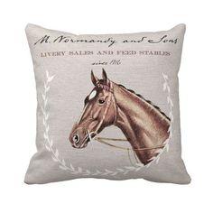 Cheval équestre oreiller couverture décor automne automne décoration coton et toile de jute oreiller