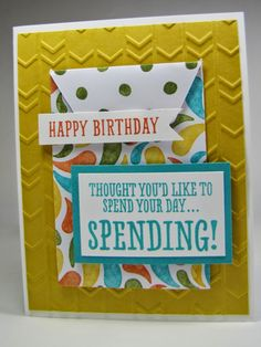 Maddiebug Designs -  features Stampin Up's BYOP stamp set and gift card envelope thinlit