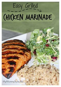 Easy Grilled Chicken Marinade, grill, summer, bbq, chicken recipe,