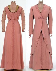 Pink wool suit, 1906, made by dressmaker Julia Tomasek, St. Paul, Minnesota. Via Minnesota Historical Society Collections.