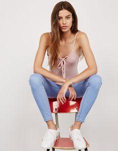 Bershka Mexico - Jeans skinny high waist
