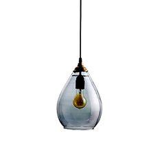 """Suspension """"ampoule """"en verre ciselé Cyrillus"""