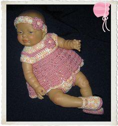 Crochet Diaper Dress Set for Newborn Baby Girl by MimisCrochetDen