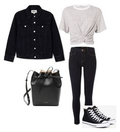 """""""Look escola ♥"""" by camibg on Polyvore featuring T By Alexander Wang, River Island, Converse and Mansur Gavriel"""