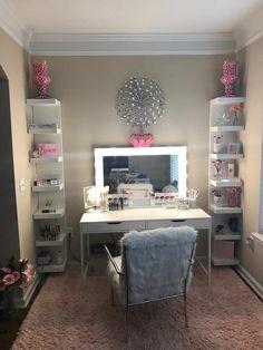 Vanity Design, Glam Room, Makeup Rooms, Teen Girl Bedrooms, Small Bedrooms, Awesome Bedrooms, Dream Rooms, My New Room, Room Inspiration