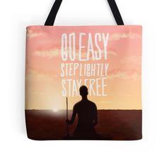 'Stay Free' Tote Bag by nath-gary V Neck T Shirt, Classic T Shirts, Fanart, Tote Bag, Bags, Stuff To Buy, Free, Handbags, Carry Bag