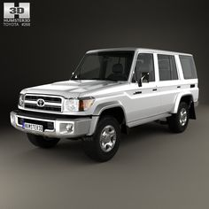 Toyota Land Cruiser 2007 3d model from Humster3D.com