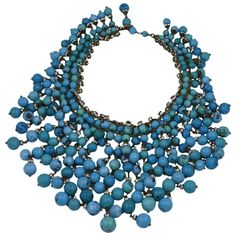 Chanel Important  Anglo Indian Gripoix Bib | From a unique collection of vintage Beaded Necklaces at https://www.1stdibs.com/jewelry/necklaces/beaded-necklaces/.