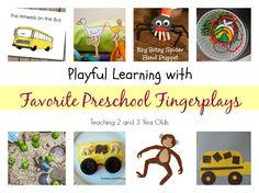 Preschool Fingerplay Favorites - Teaching 2 and 3 Year Olds